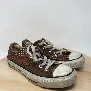 Converse Women's 6 Men's 4  Patchwork Sneakers O8